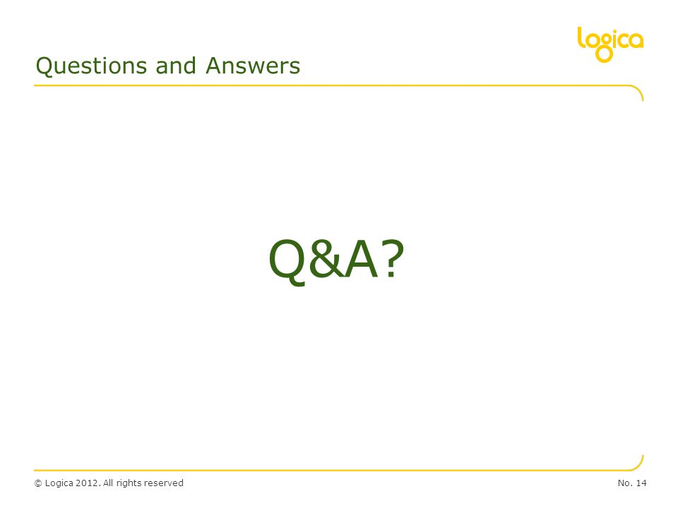 Questions and Answers Q&A