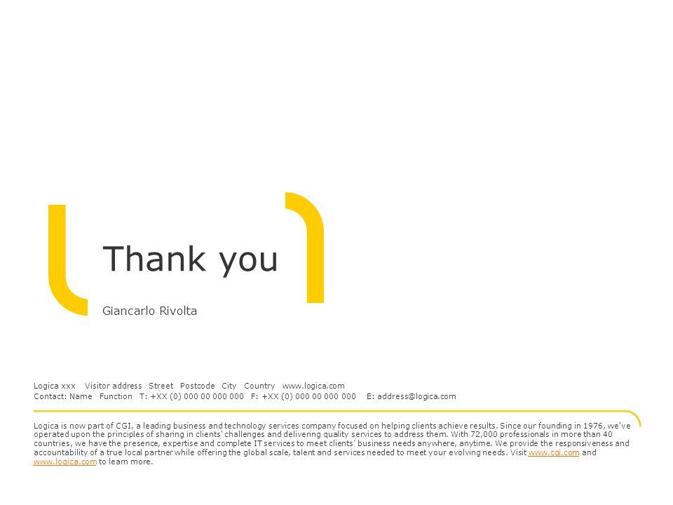 Thank you Giancarlo Rivolta