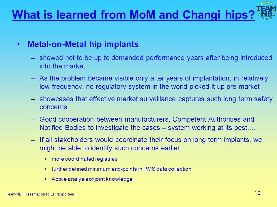 What is learned from MoM and Changi hips