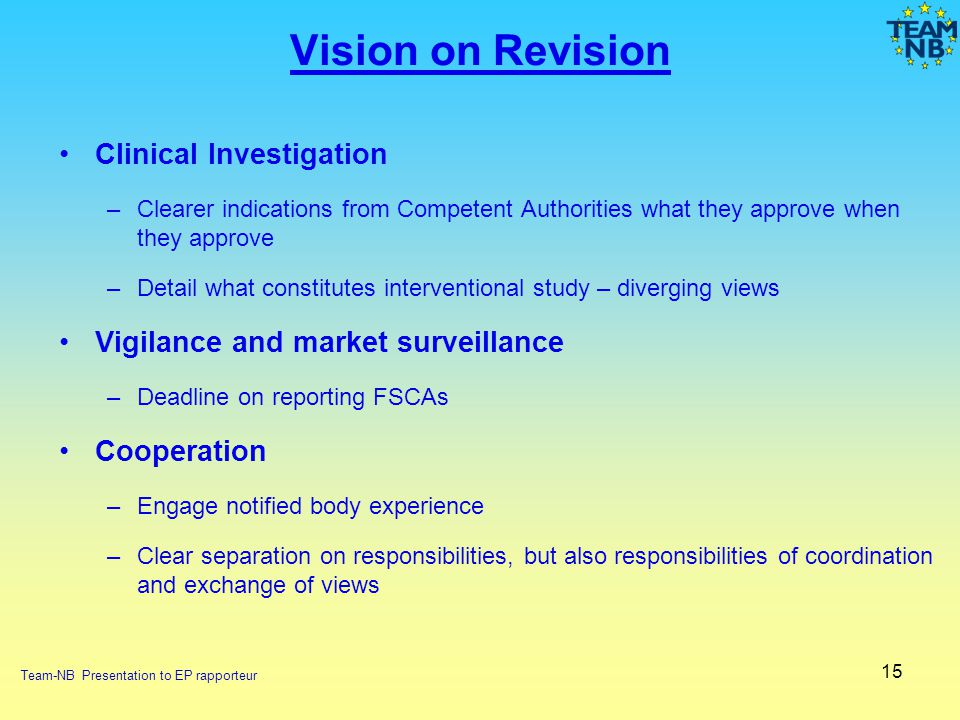 Vision on Revision Clinical Investigation