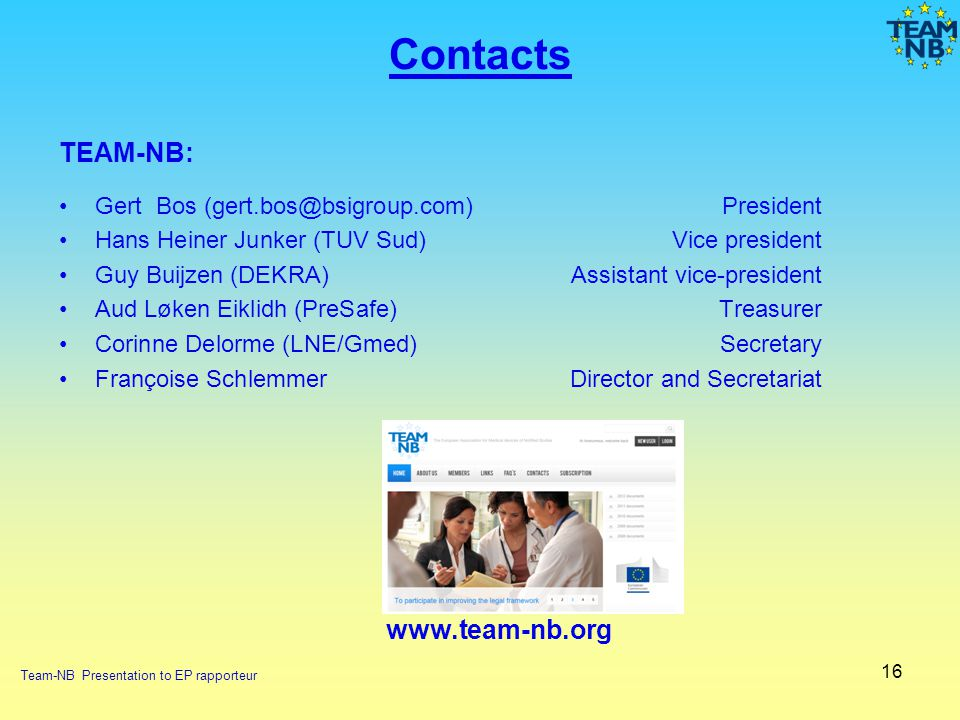 Contacts TEAM-NB: www.team-nb.org