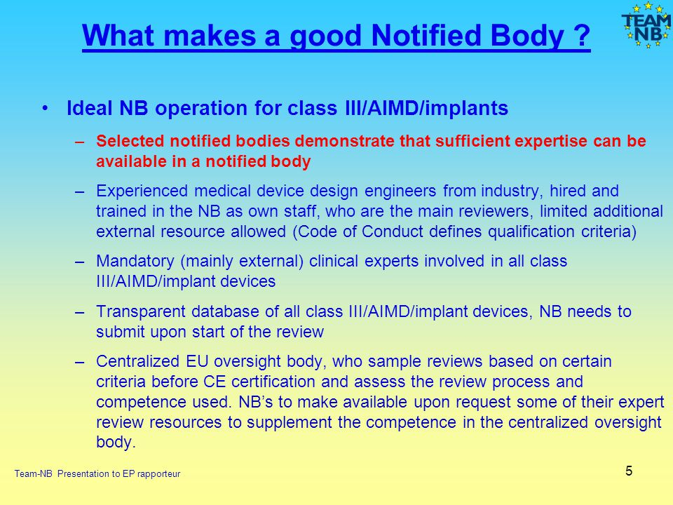 What makes a good Notified Body