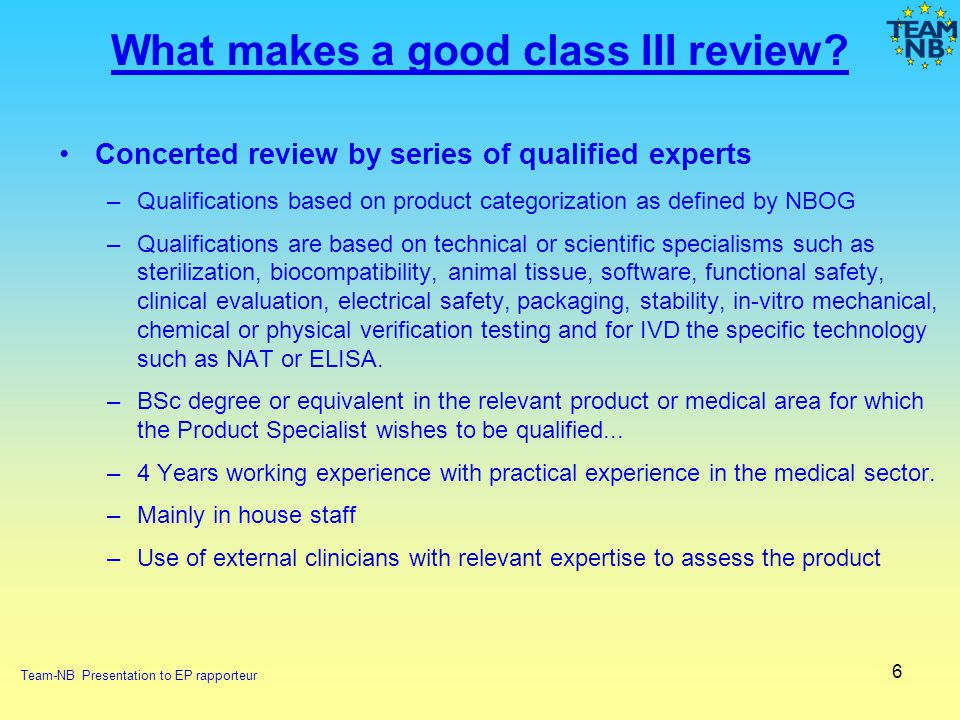 What makes a good class III review