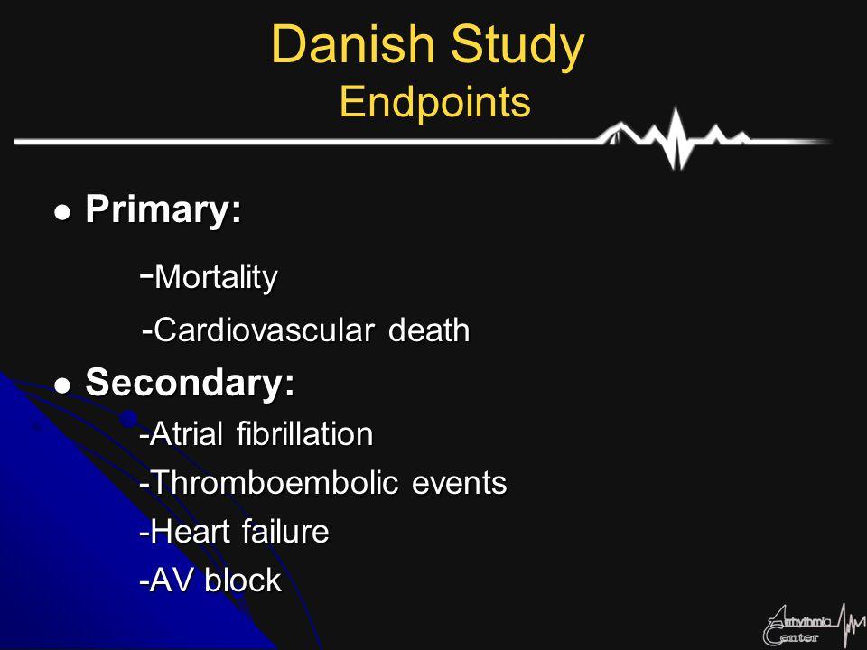 Danish Study Endpoints