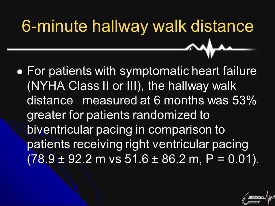 6-minute hallway walk distance