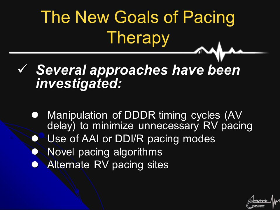 The New Goals of Pacing Therapy