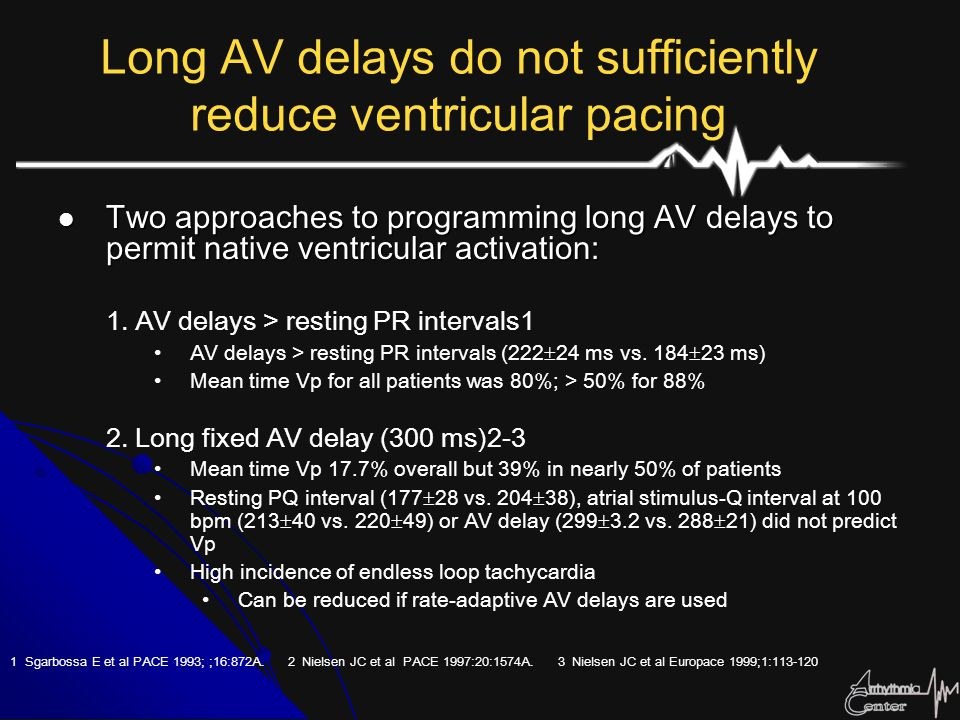 Long AV delays do not sufficiently reduce ventricular pacing