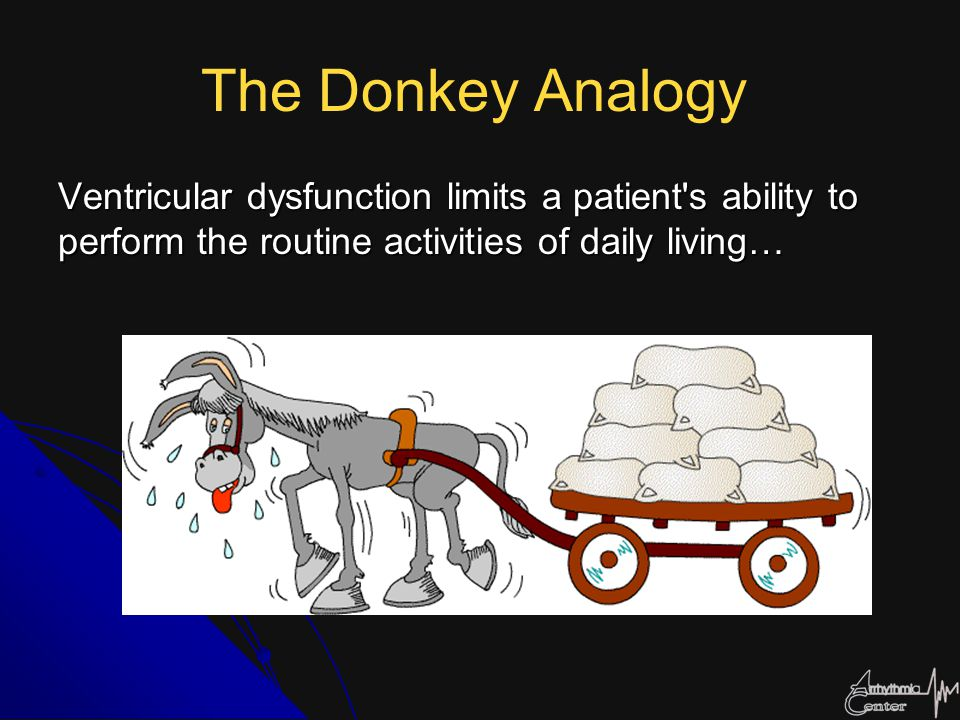 The Donkey Analogy Ventricular dysfunction limits a patient s ability to perform the routine activities of daily living…