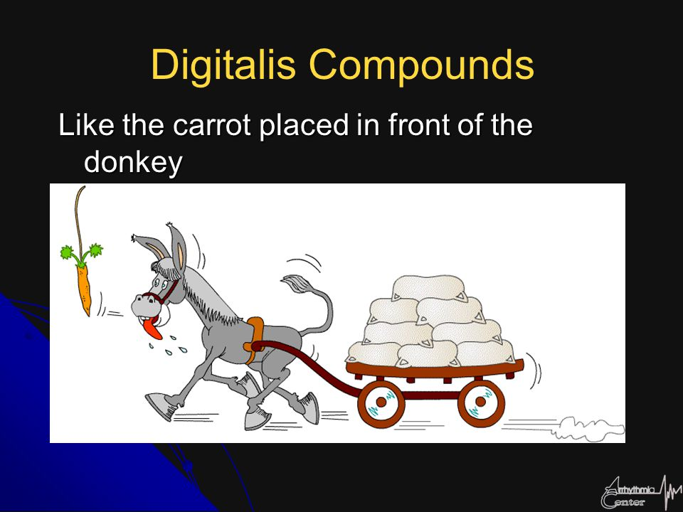 Digitalis Compounds Like the carrot placed in front of the donkey