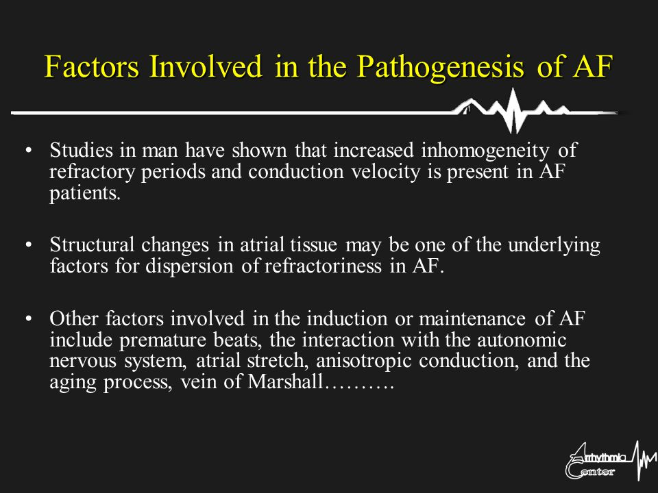 Factors Involved in the Pathogenesis of AF