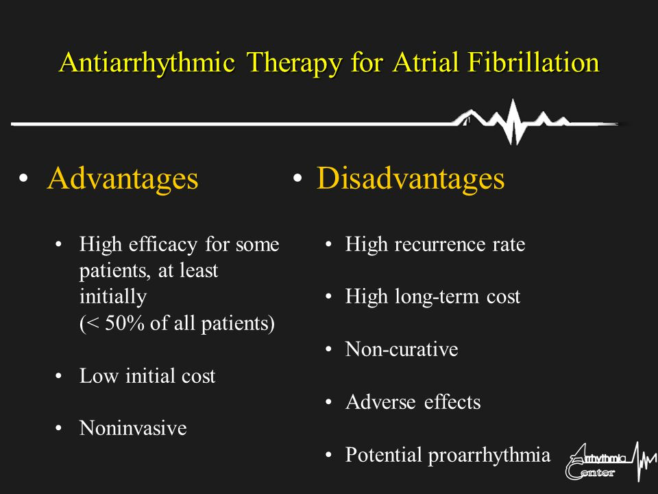 Antiarrhythmic Therapy for Atrial Fibrillation