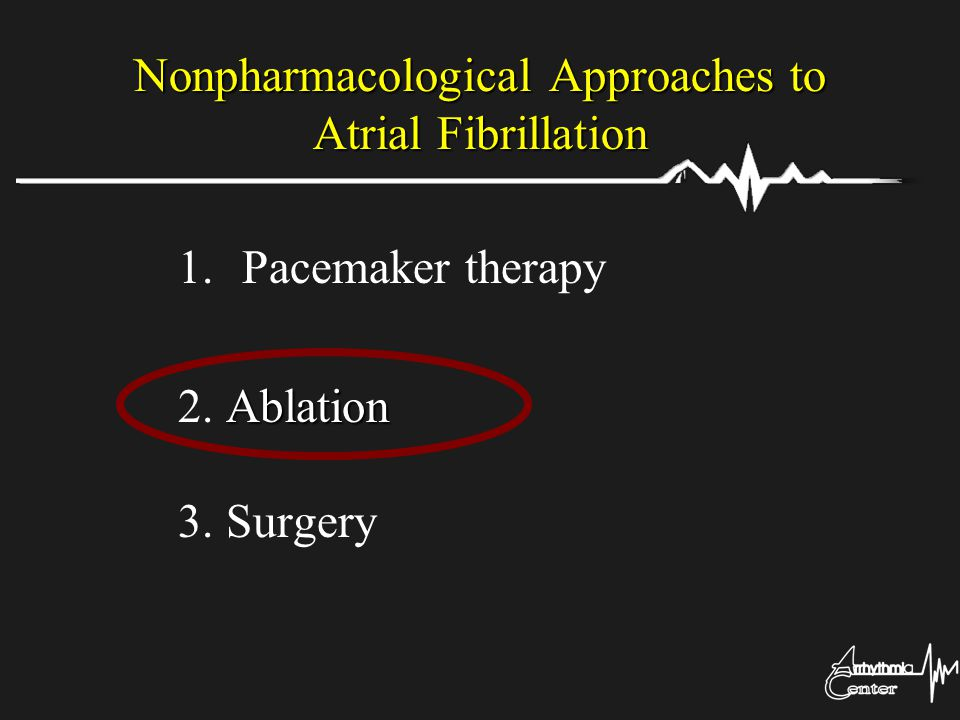 Nonpharmacological Approaches to Atrial Fibrillation