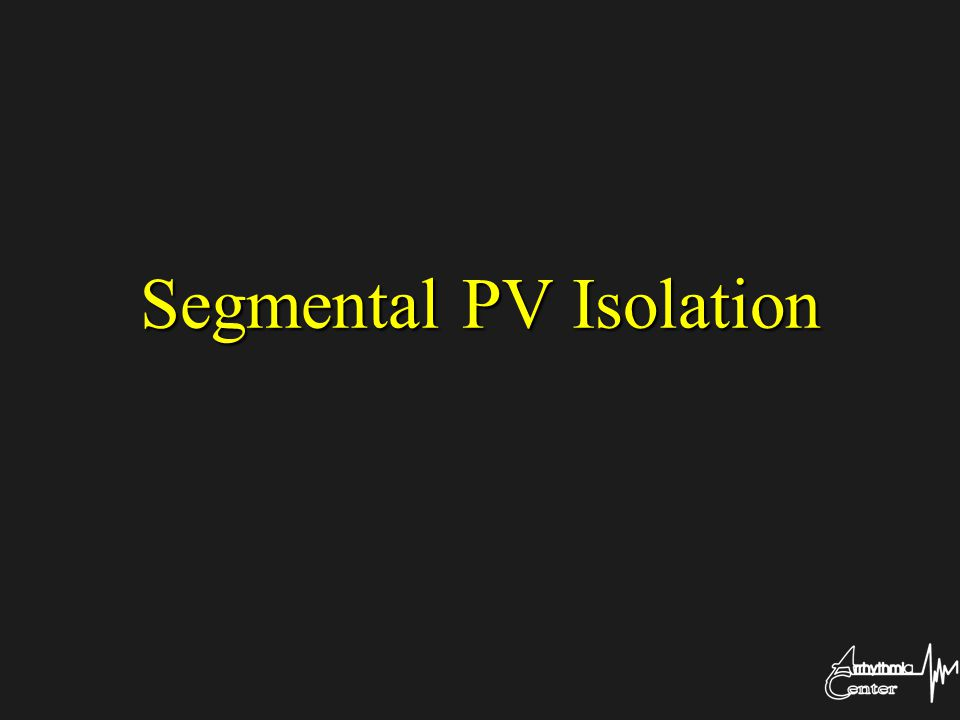 Segmental PV Isolation