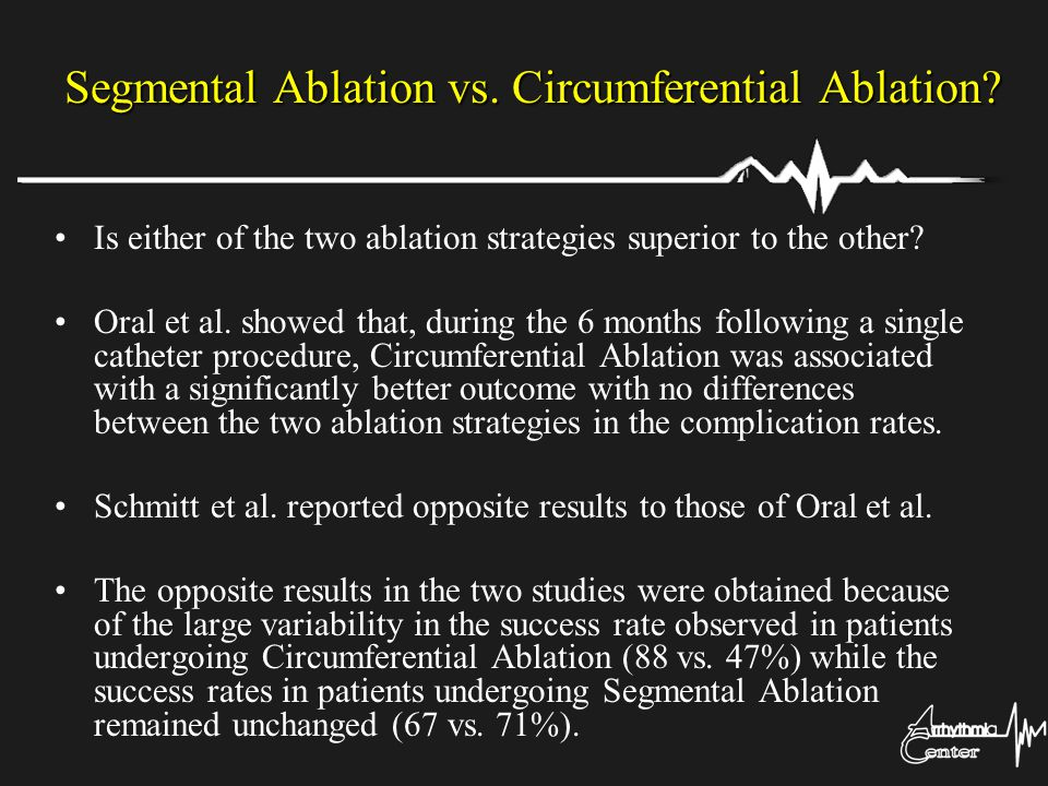 Segmental Ablation vs. Circumferential Ablation