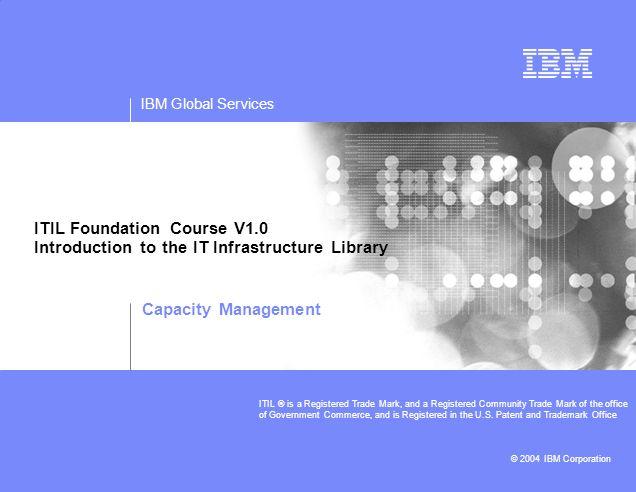 ITIL Foundation Course V1