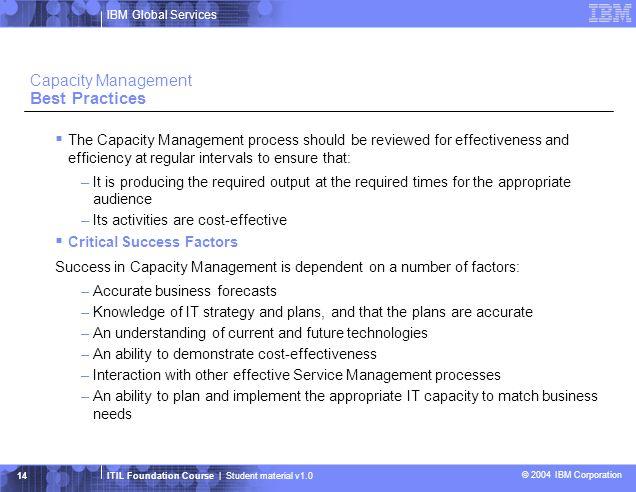 Capacity Management Best Practices