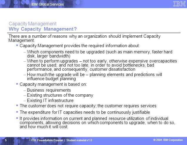 Capacity Management Why Capacity Management