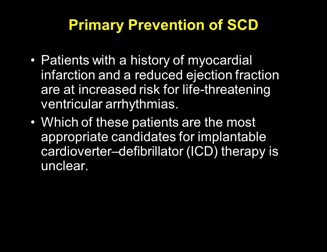 Primary Prevention of SCD