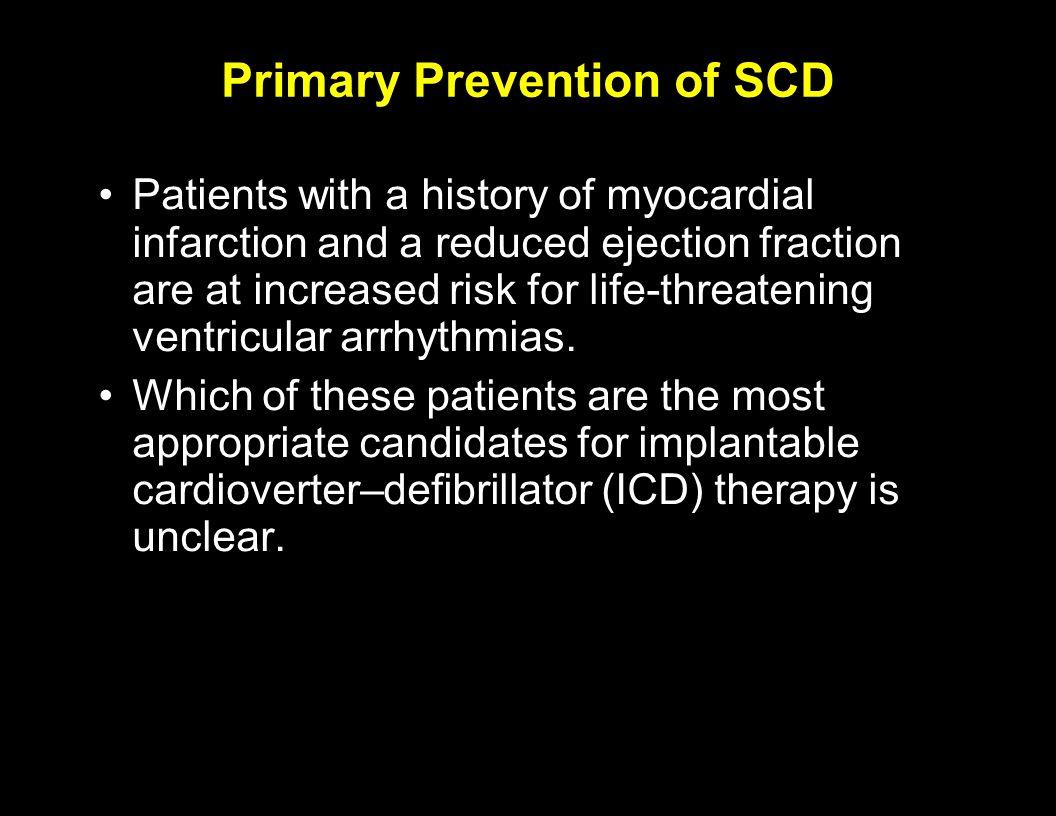 Primary Prevention of SCD