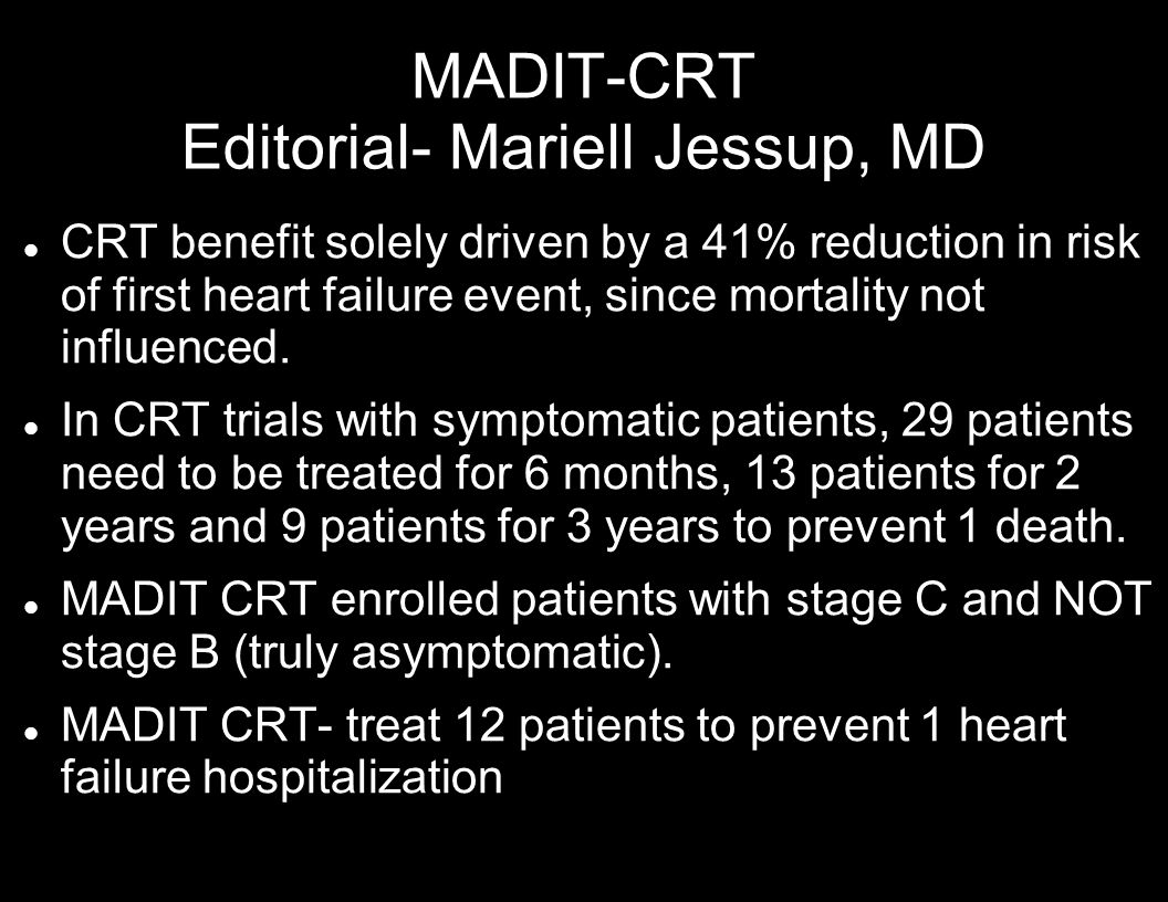 MADIT-CRT Editorial- Mariell Jessup, MD