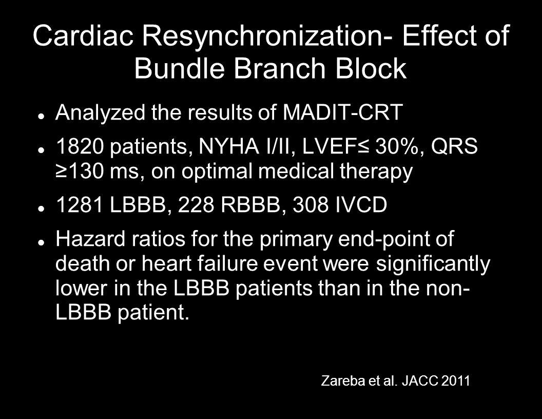 Cardiac Resynchronization- Effect of Bundle Branch Block