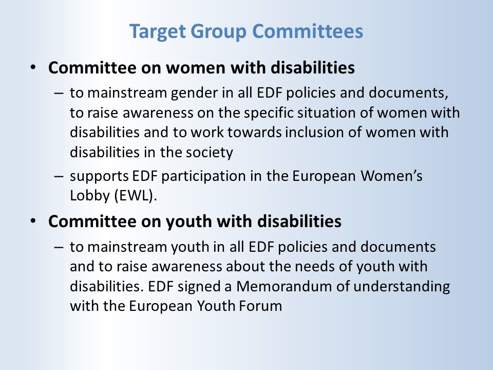 Target Group Committees