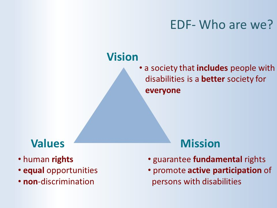 EDF- Who are we Vision Values Mission