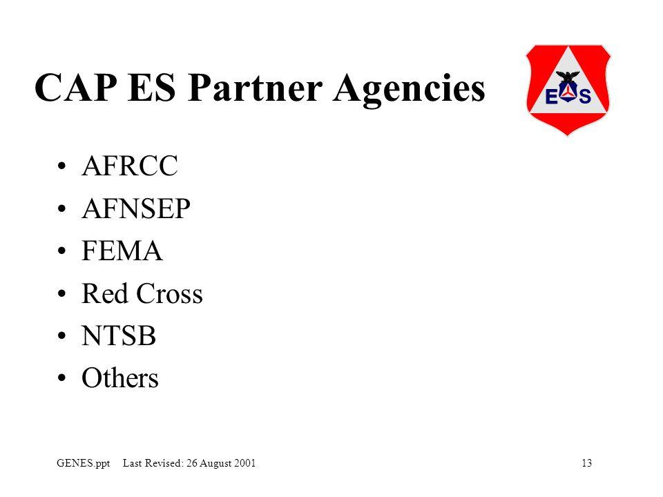 CAP ES Partner Agencies