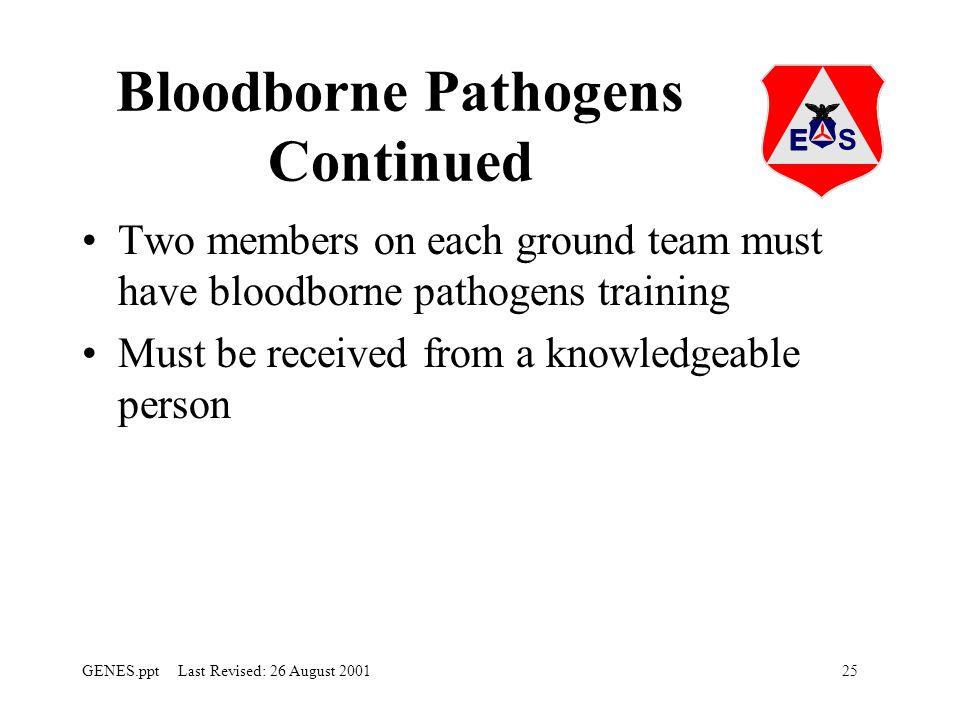 Bloodborne Pathogens Continued