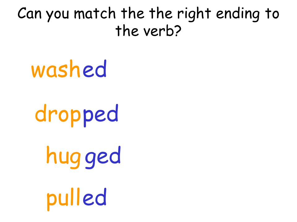 Can you match the the right ending to the verb