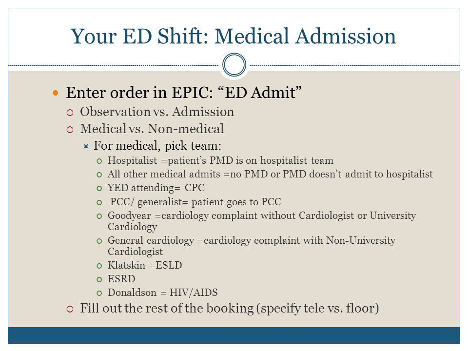 Your ED Shift: Medical Admission