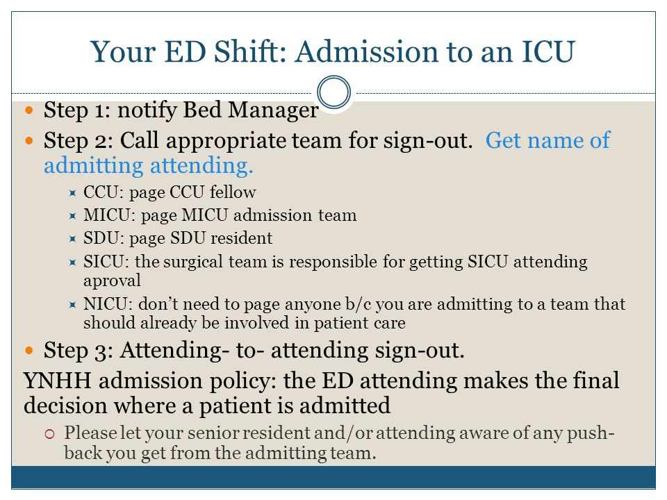 Your ED Shift: Admission to an ICU