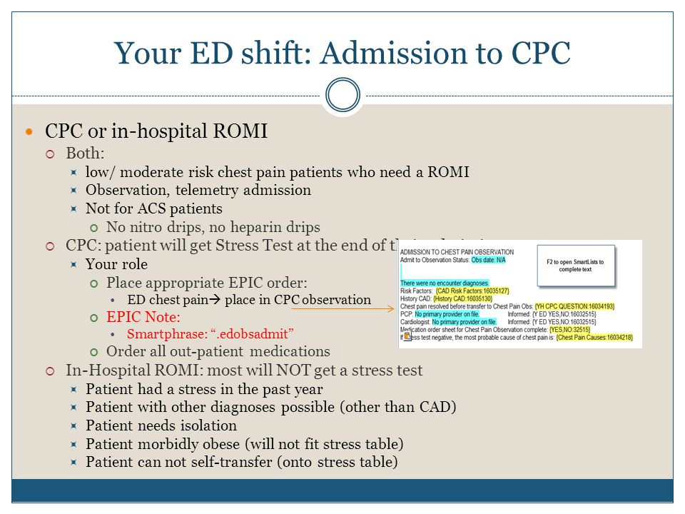 Your ED shift: Admission to CPC