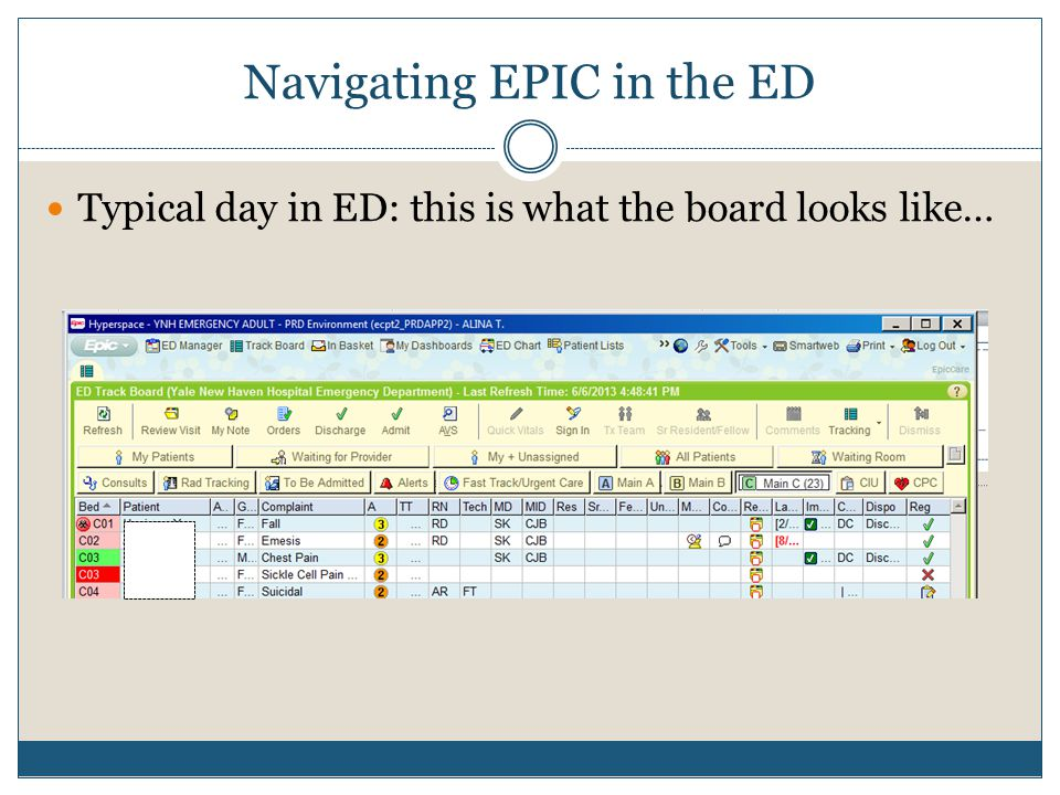 Navigating EPIC in the ED