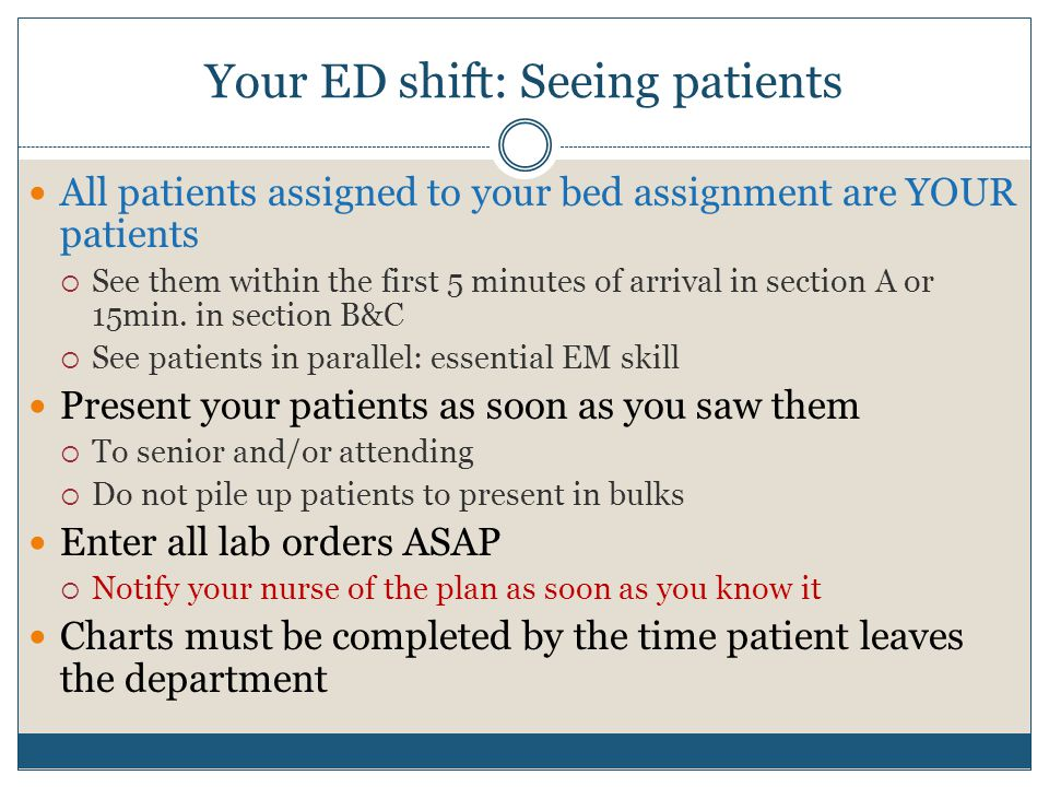 Your ED shift: Seeing patients
