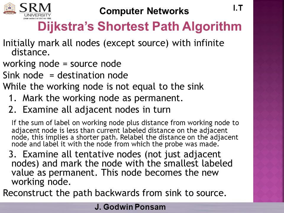 Dijkstra's Shortest Path Algorithm