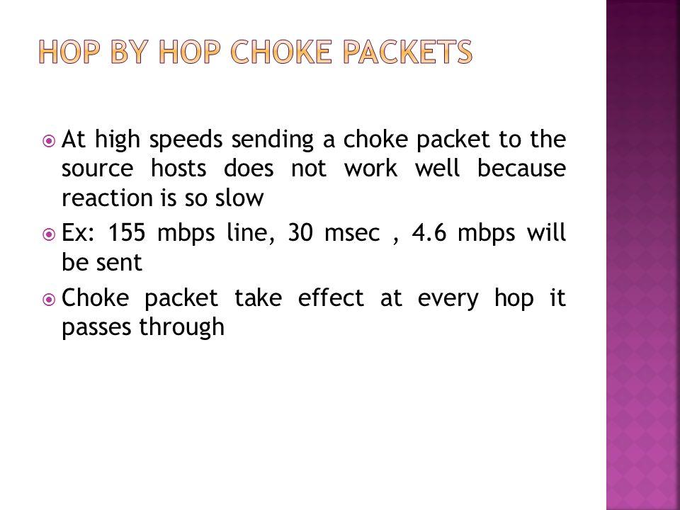 Hop by Hop choke packets