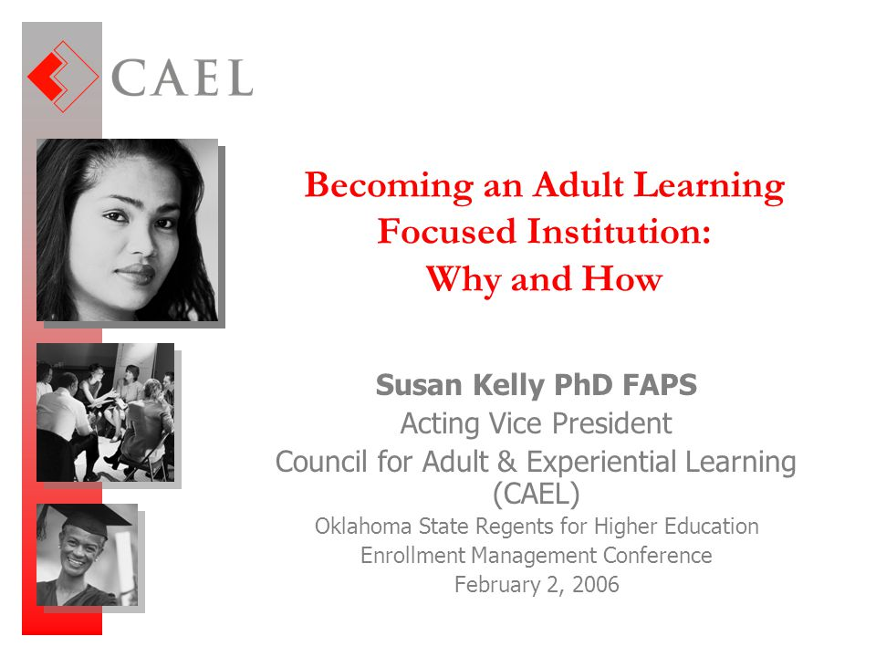 Becoming an Adult Learning Focused Institution: Why and How