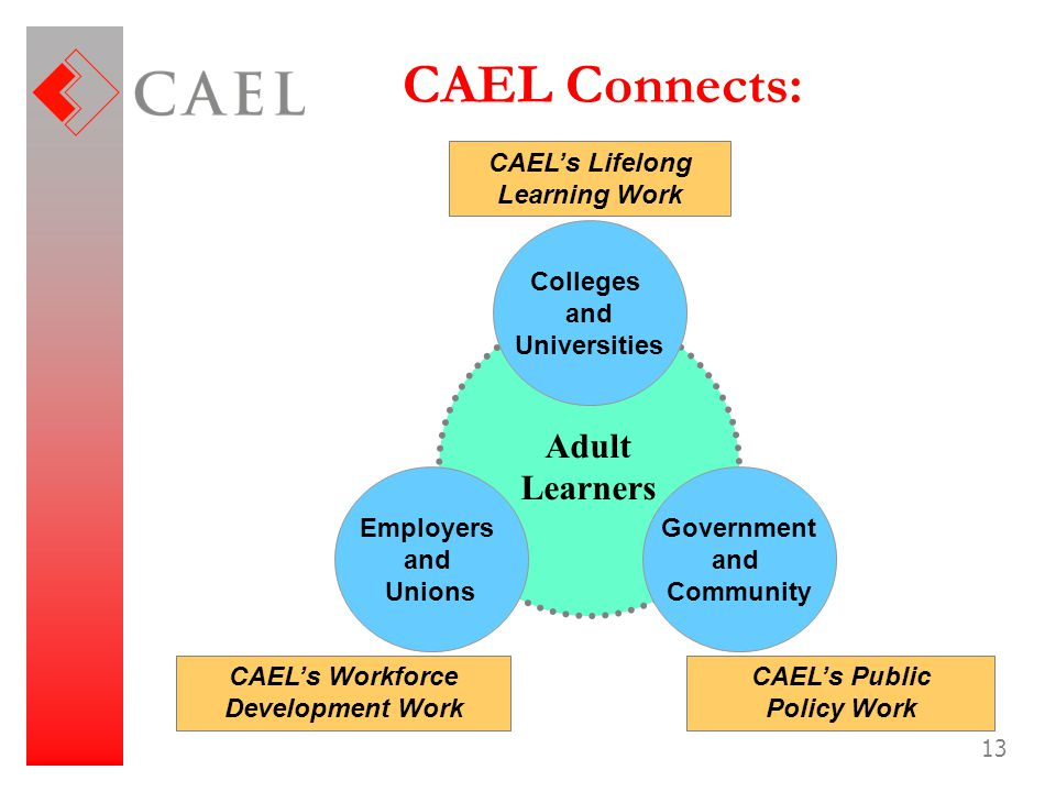 CAEL's Lifelong Learning Work CAEL's Workforce Development Work
