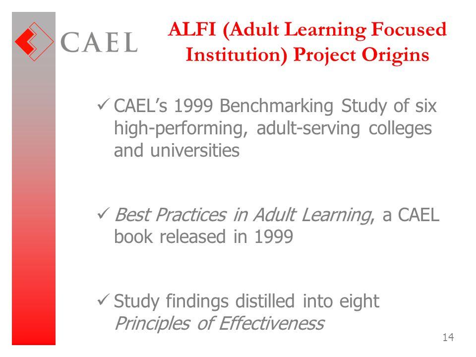 ALFI (Adult Learning Focused Institution) Project Origins