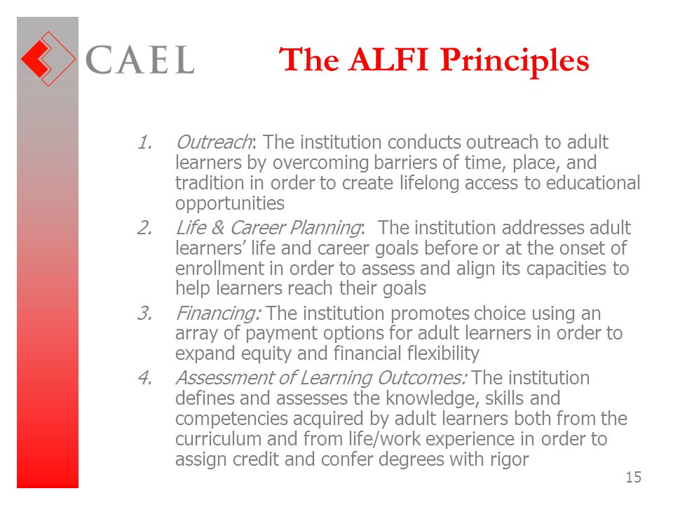 The ALFI Principles