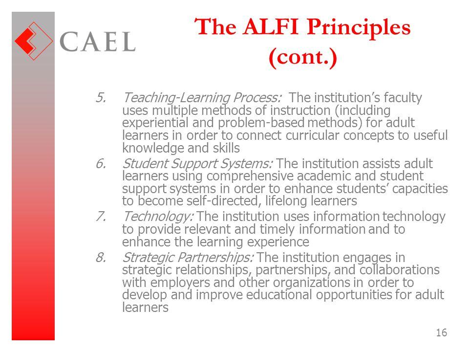 The ALFI Principles (cont.)