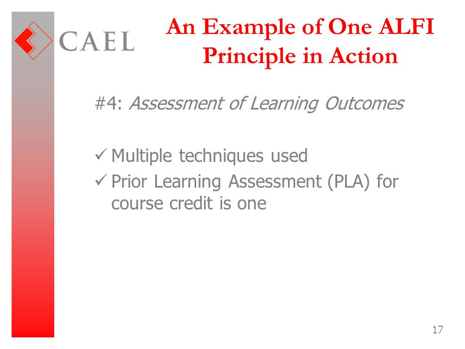 An Example of One ALFI Principle in Action