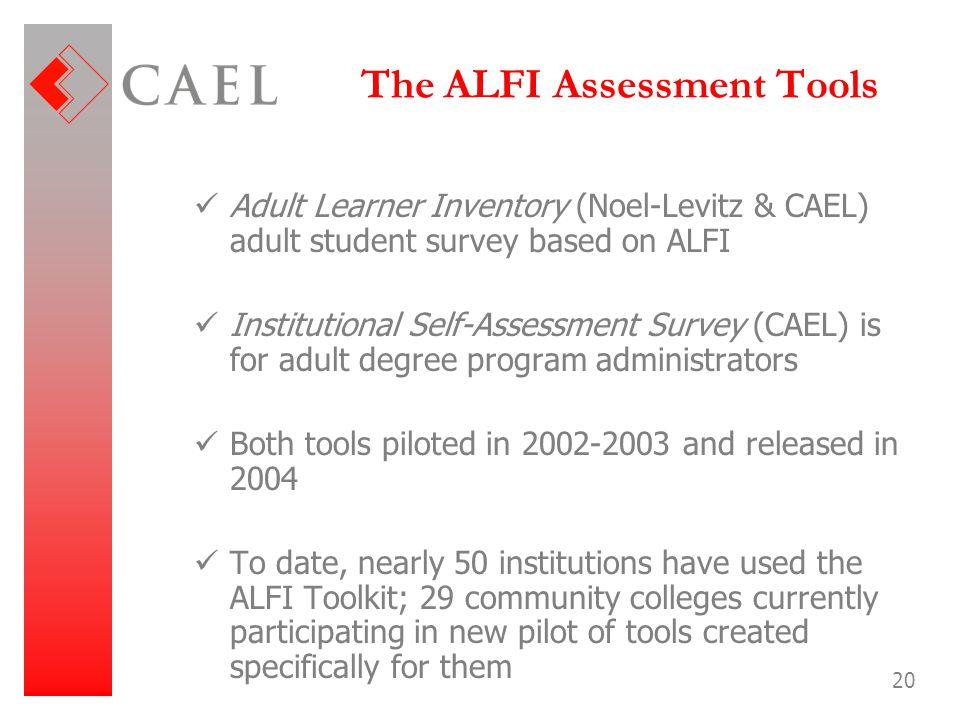 The ALFI Assessment Tools