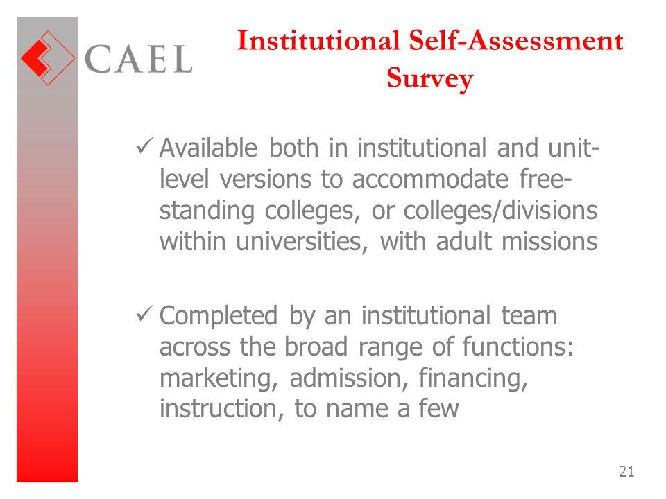 Institutional Self-Assessment Survey