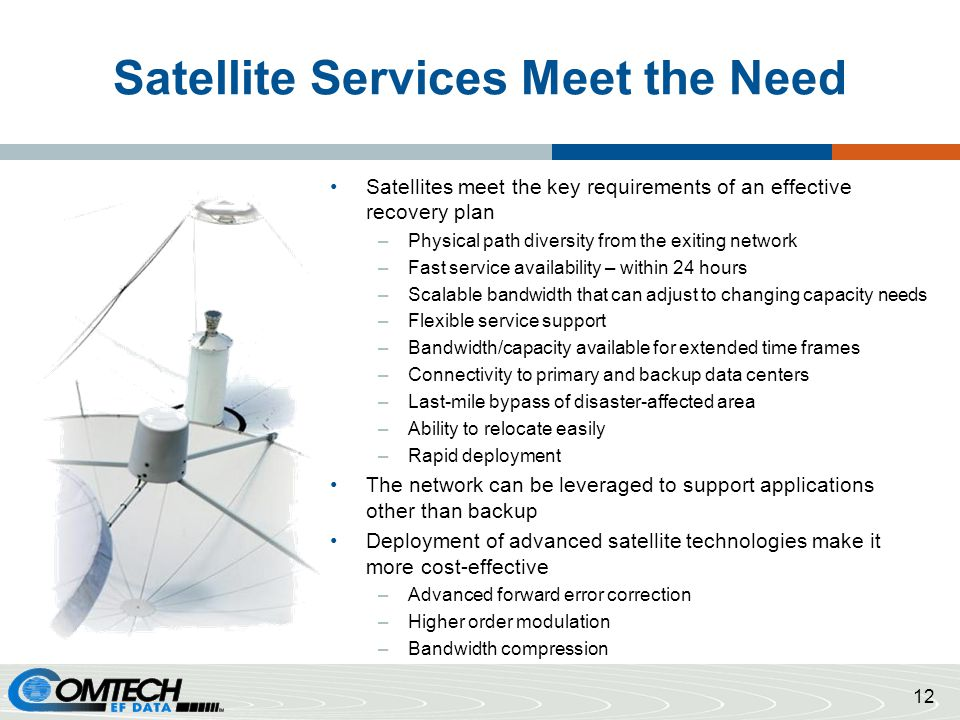 Satellite Services Meet the Need