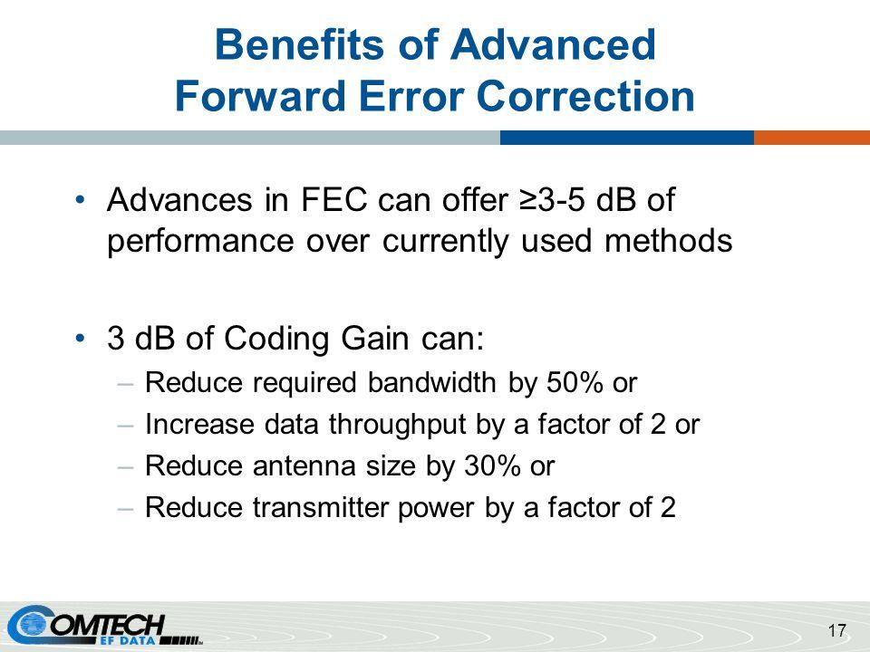 Benefits of Advanced Forward Error Correction