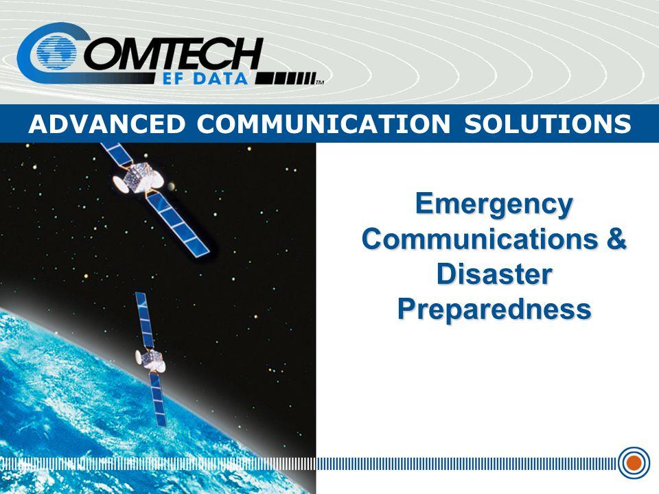 Emergency Communications & Disaster Preparedness