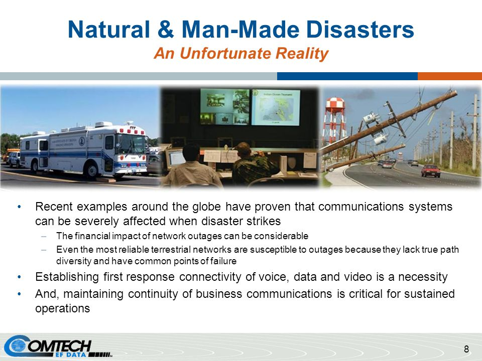 Natural & Man-Made Disasters An Unfortunate Reality
