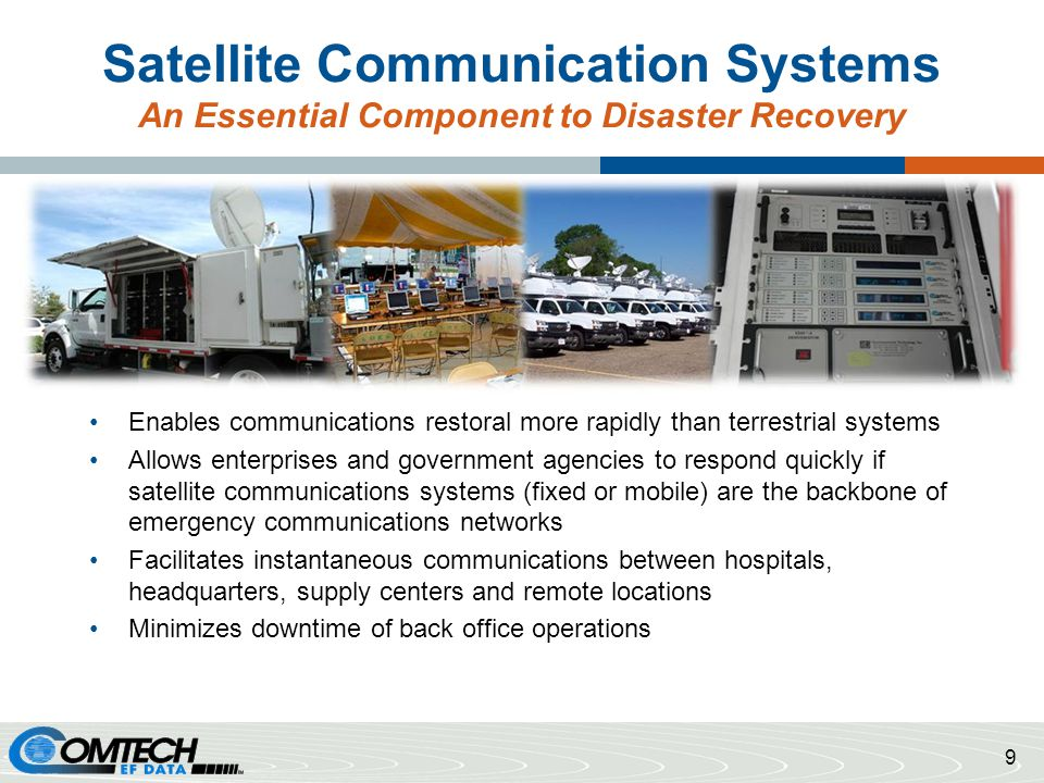 Satellite Communication Systems An Essential Component to Disaster Recovery